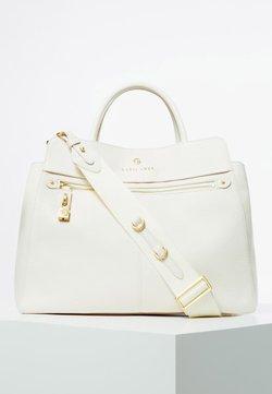 Guess - GUESS HENKELTASCHE EVE LUXE ECHTES LEDER - Handtasche - white
