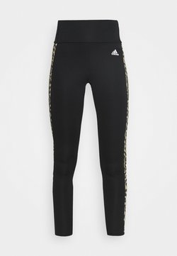adidas Performance - BELIEVE THIS 2.0 LACE AEROREADY WORKOUT COMPRESSION 7/8 LEGGINGS - Tights - black/hazbei