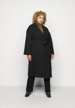 CAPSULE by Simply Be - BELTED WRAP COLLAR COAT - Wollmantel/klassischer Mantel - black