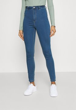 Missguided - VICE HIGHWAISTEDWITH BELT LOOPS - Jeans Skinny Fit - blue