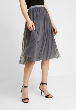 Lace & Beads - VAL SKIRT - Spódnica trapezowa - charcoal