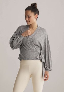 OYSHO - WRAP - Strickjacke - light grey