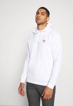 adidas Originals - ESSENTIAL HOODY - Kapuzenpullover - white/scarle