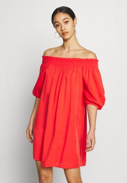 Superdry - DESERT OFF SHOULDER DRESS - Day dress - apple red