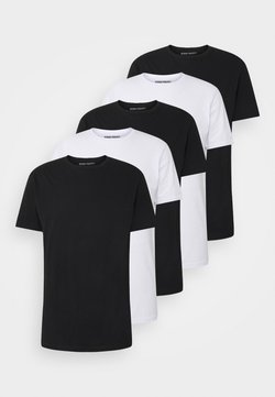 Denim Project - 5 PACK  - Basic T-shirt - black/white