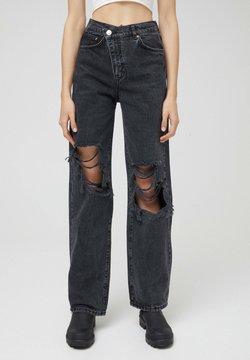 PULL&BEAR - Straight leg -farkut - black