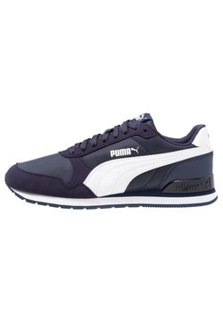 Puma - RUNNER UNISEX - Sneaker low - peacoat/white