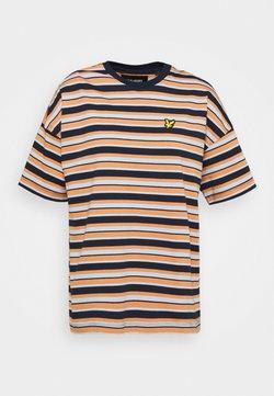 Lyle & Scott - STRIPE - T-Shirt print - ink blue