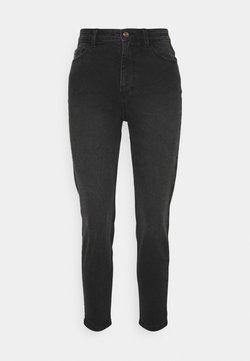 Pieces Petite - PCKESIA MOM - Jeans fuselé - dark grey denim