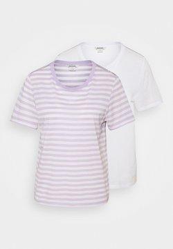 Monki - T-Shirt print - white/lilac