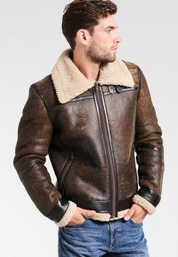 Goosecraft - LAMMY - Leren jas - brown