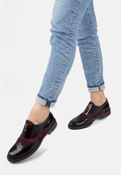 Shoe Embassy London - HARLEQUIN  - Slip-ons - black