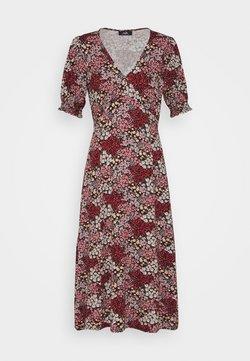 Wallis - AUTUMN DITSY MIDI - Jersey dress - black
