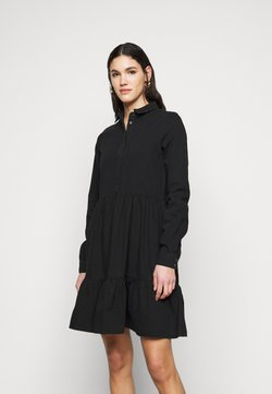 Vero Moda Tall - VMMARIA FRILL DRESS - Denim dress - black