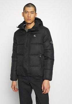 Calvin Klein Jeans - HOODED PUFFER JACKET - Winterjacke - black