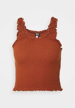 BDG Urban Outfitters - LETTUCE EDGE TANK - Débardeur - brown