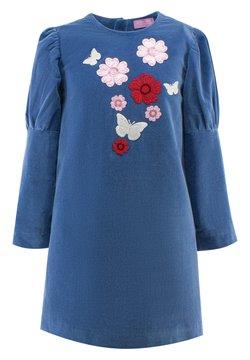 Evika Kids - WITH FLOWERS - Freizeitkleid - blue