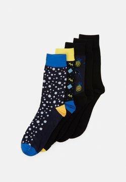 Jack & Jones - JACHAPPY LINE SOCK 5 PACK - Socken - navy blazer
