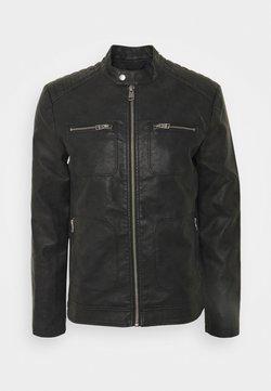 Esprit - VEGAN - Imitatieleren jas - black