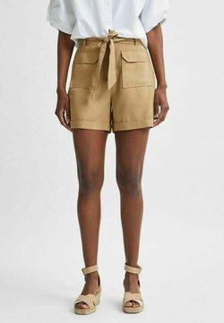 Selected Femme - TENCEL LYOCELL - Shorts - beige