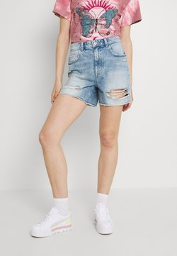 ONLY - ONLBAY DESTROY - Szorty jeansowe - medium blue denim