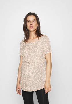 Pieces Maternity - PCMBECCA TIE  - Blusa - natural