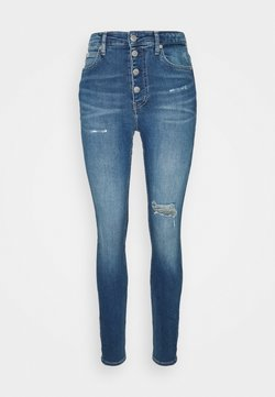 Calvin Klein Jeans - HIGH RISE - Jeans Tapered Fit - blue