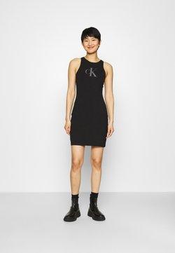Calvin Klein Jeans - BONDED RACER BACK DRESS - Vestido de tubo - black