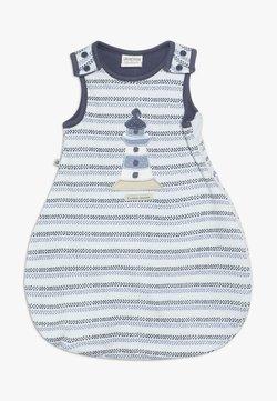 Jacky Baby - UNWATTIERT ÄRMELLOS COUCOU MON PETIT - Pijama saco - blue