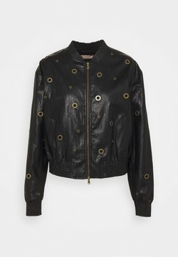 TWINSET - BOMBER IN TESSUTO - Giacca in similpelle - nero