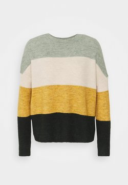 ONLY - ONLJANNY - Jersey de punto - chinois green/pumice/tawny olive