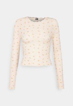 BDG Urban Outfitters - FLORAL EDGE TEE - T-shirt à manches longues - peach