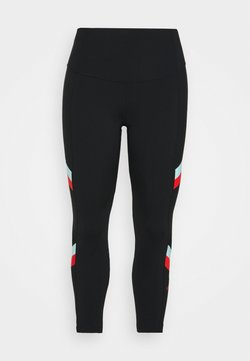 Nike Performance - STRIPE 7/8  PLUS - Tights - black/chile red