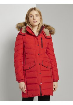 TOM TAILOR - SIGNATURE PUFFER COAT - Cappotto invernale - strong red