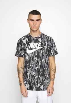 Nike Sportswear - TEE CLUB - T-shirt imprimé - smoke grey/cool grey/iron grey/white