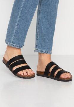 Rubi Shoes by Cotton On - REX TRIPLE STRAP SLIDE - Chaussons - black