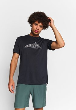 Salomon - AGILE GRAPHIC TEE  - T-Shirt print - black/heather