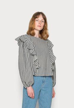 Marc O'Polo DENIM - BLOUSE FRILL DETAIL LONGSLEEVE ELASTIC CUFFS - T-Shirt print - scandinavian white