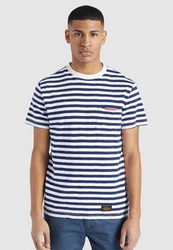 khujo - DESTIN STRIPES - T-Shirt print - blau-weiß gestreift
