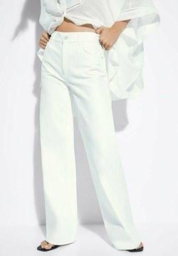 Massimo Dutti - Jeans a zampa - white