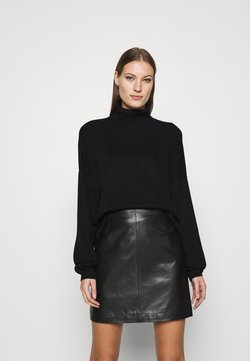 Zign - SOFT TURTLE NECK - Trui - black