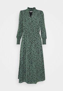 ONLY - ONLJENNA V-NECK MIDI DRESS - Korte jurk - chinois green/black