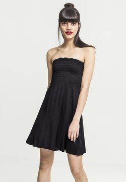 Urban Classics - LADIES SMOKE BANDEAU DRESS - Jerseykleid - black