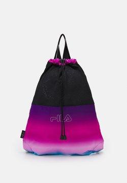 Fila - DRAWSTRING BACKPACK UNISEX - Reppu - black/purple