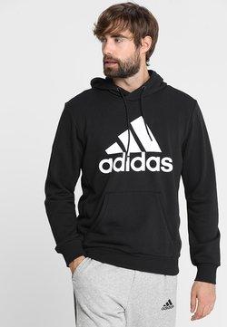 adidas Performance - MUST HAVES SPORT REGULAR FIT HOODIE - Kapuzenpullover - black/white