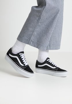 Vans - UA OLD SKOOL PLATFORM - Sneakers laag - black/white