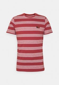 Jack & Jones - JCOFLAME TEE CREW NECK - T-Shirt print - red ochre