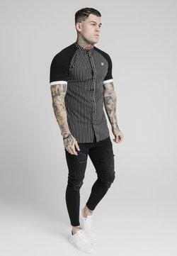 SIKSILK - RAGLAN INSET - Camicia - black/white