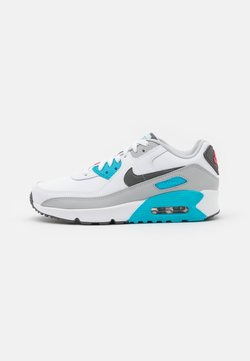 Nike Sportswear - AIR MAX 90 UNISEX - Trainers - white/iron grey/chlorine blue