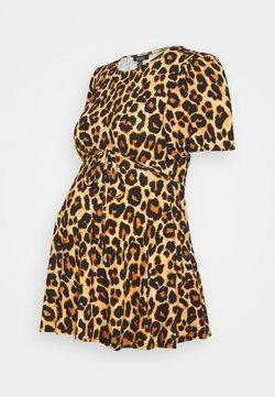 New Look Maternity - ANIMAL HALF MOON TIE BACK - Camiseta estampada - brown